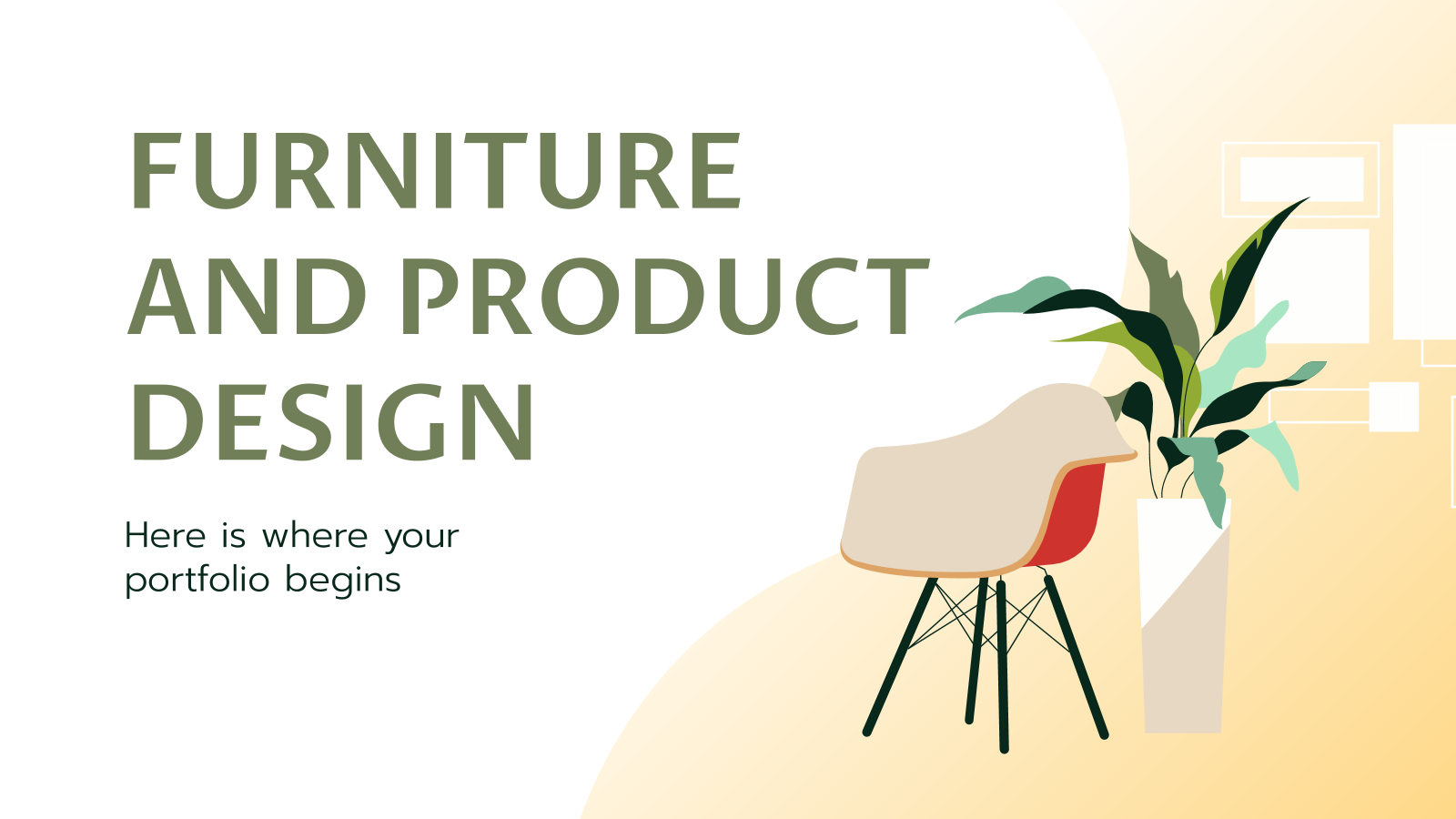 Furniture and Product Design Portfolio presentation template
