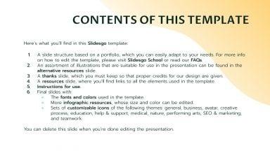 Plantilla de presentación Portafolio de diseño de mobiliario