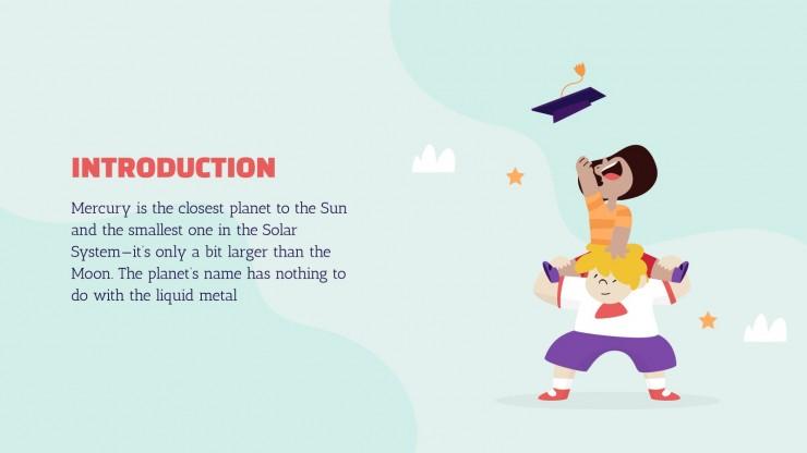Primary School Virtual Graduation presentation template