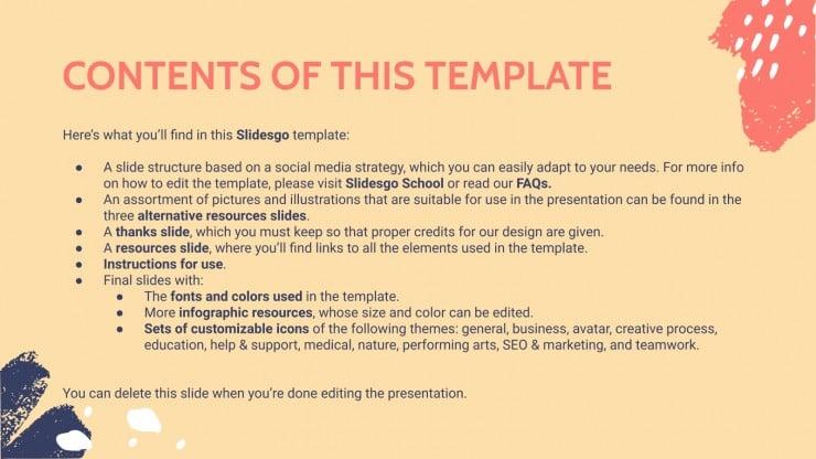 Quarterly Social Media Strategy presentation template