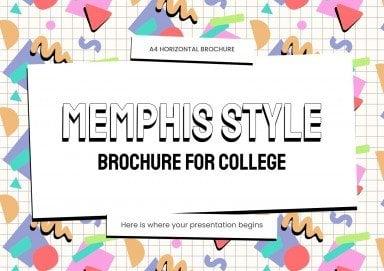 Plantilla de presentación Folleto para la universidad con estilo Memphis