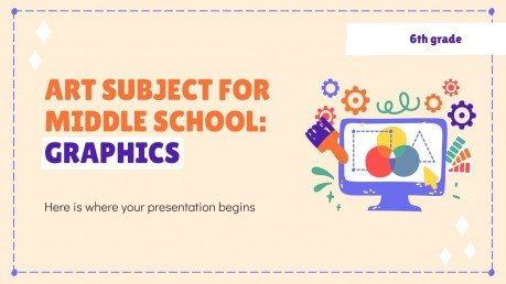 Modelo de apresentação Arte para o ensino médio: Gráficos