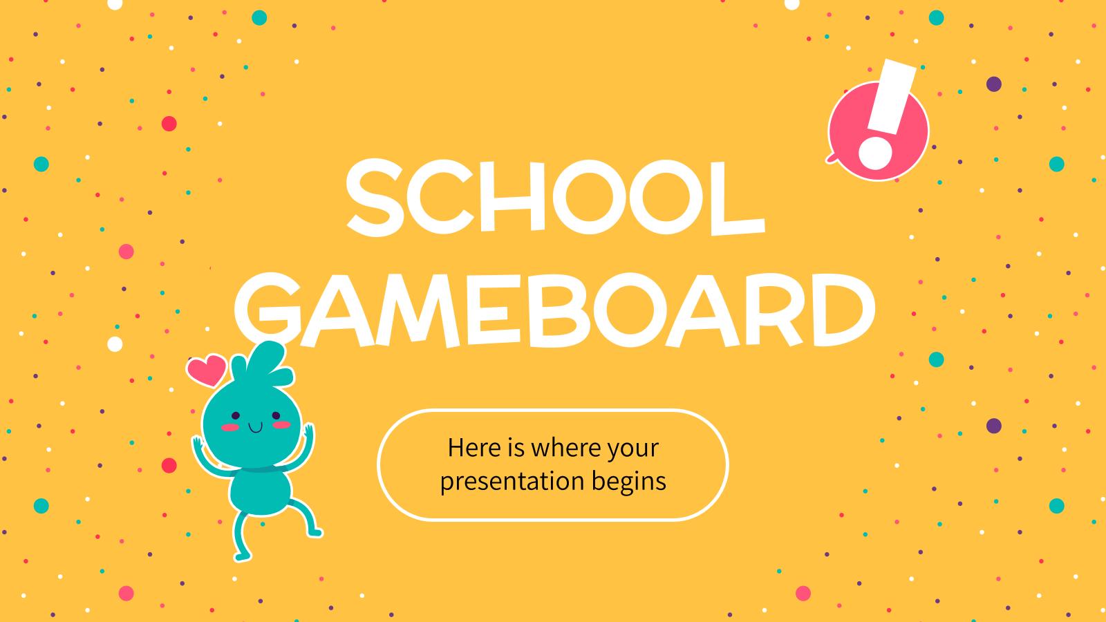 Modelo de apresentação Jogo de tabuleiro para escolas