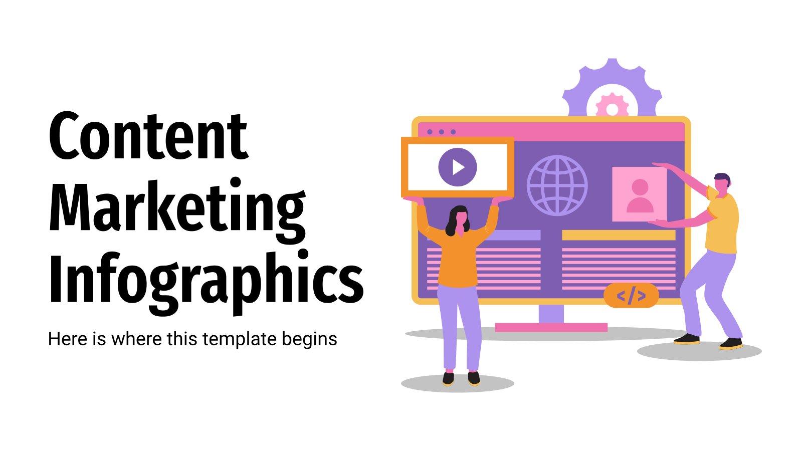 Content Marketing Infografiken Präsentationsvorlage
