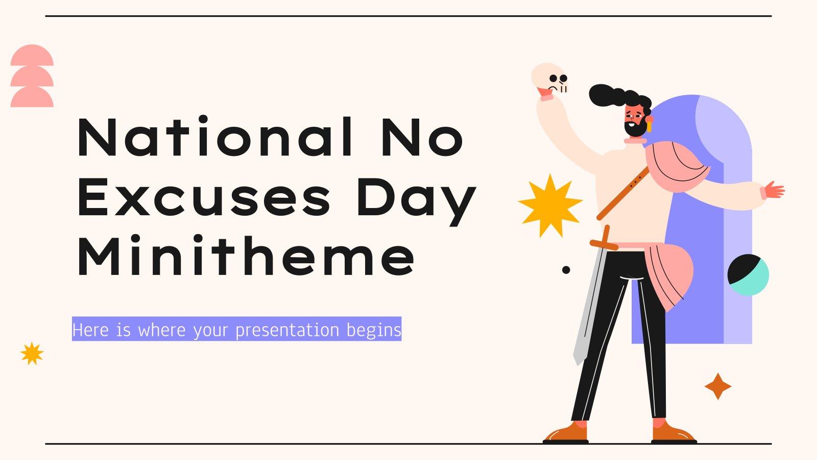 Plantilla de presentación Minitema del Día sin Excusas