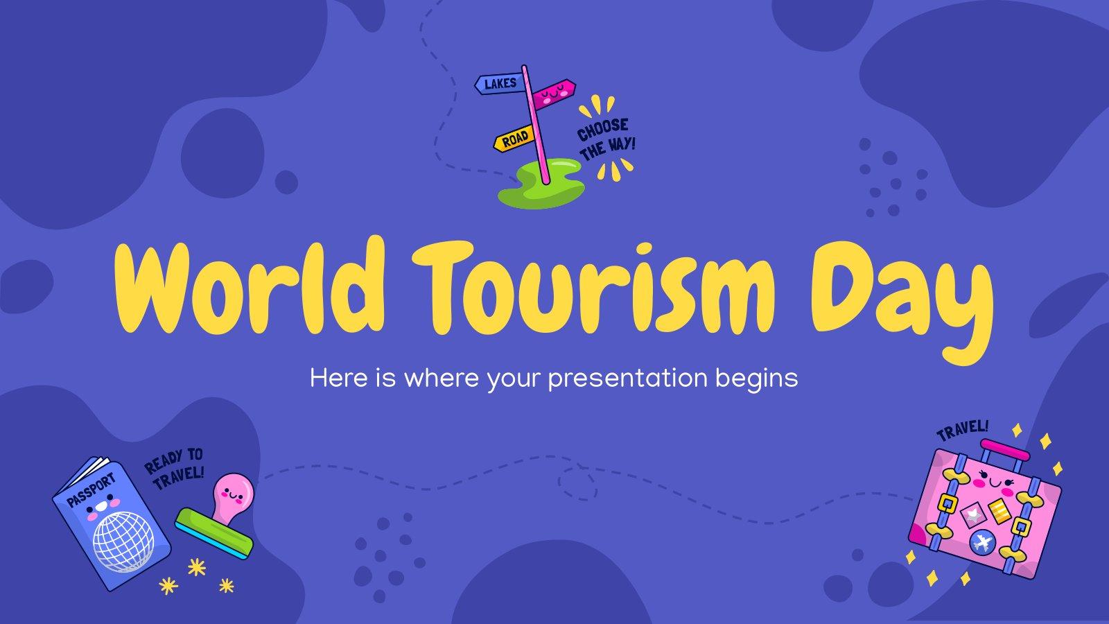 Plantilla de presentación Día internacional del turismo