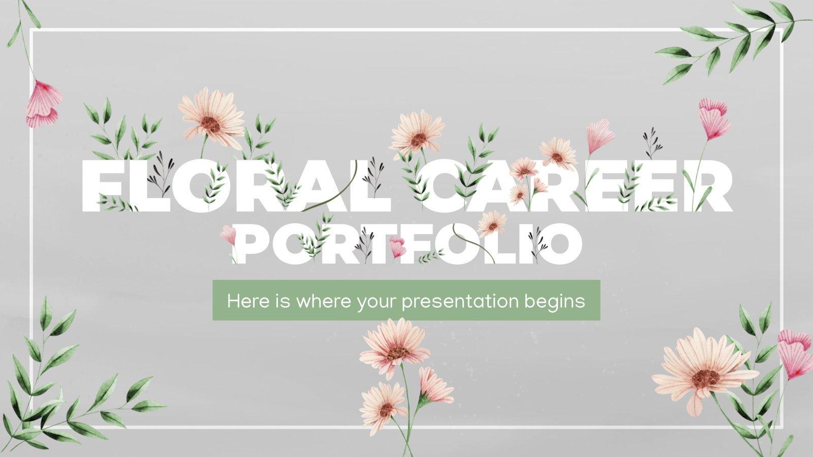 Plantilla de presentación Portafolio de diseño floral