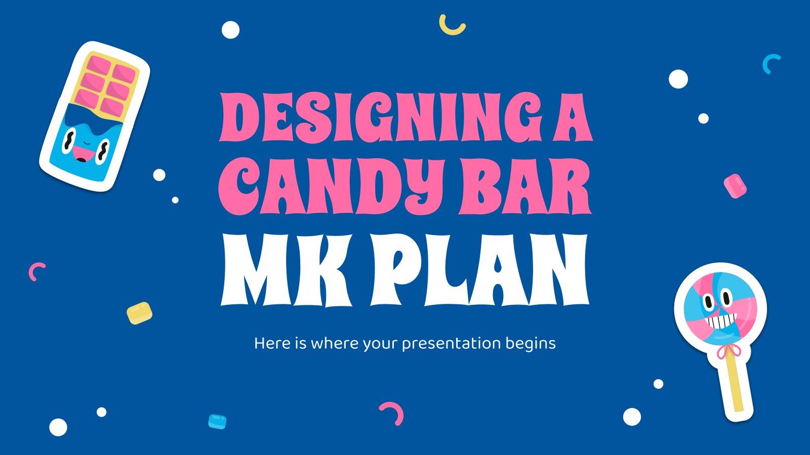PK: Gestaltung einer Candy Bar Präsentationsvorlage