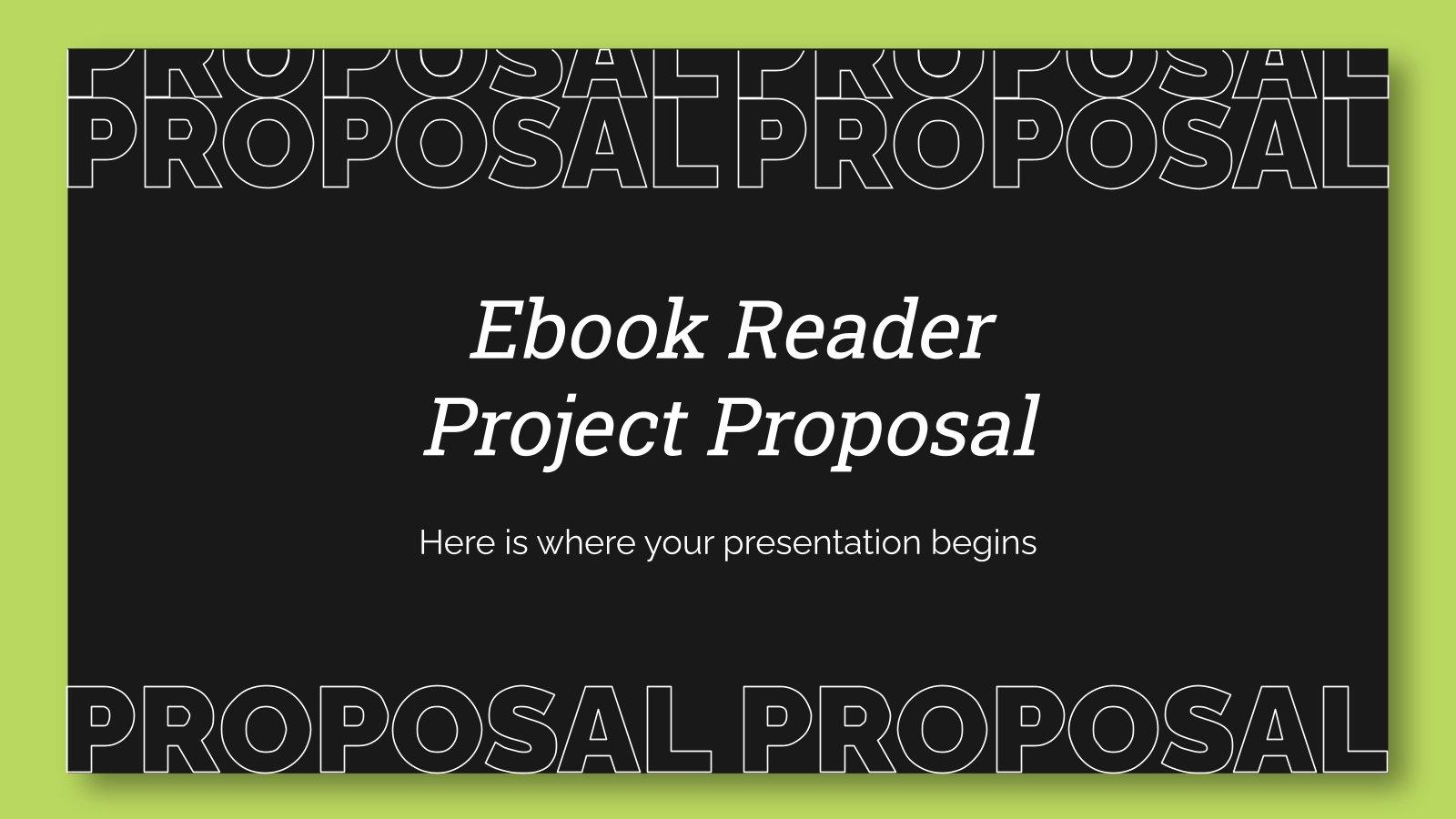 Modelo de apresentação Proposta do projeto de leitor de livros digitais