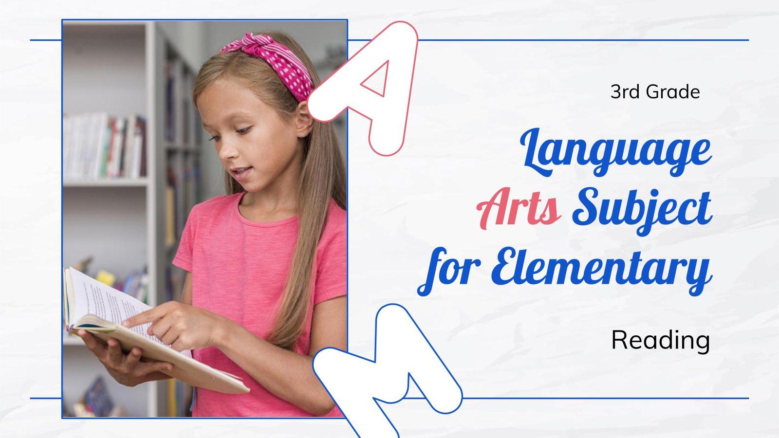 Sprache für die 3. Klasse: Lesen Präsentationsvorlage