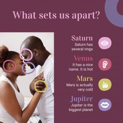 Glückliche & Inklusive Paare für Soziale Medien Präsentationsvorlage