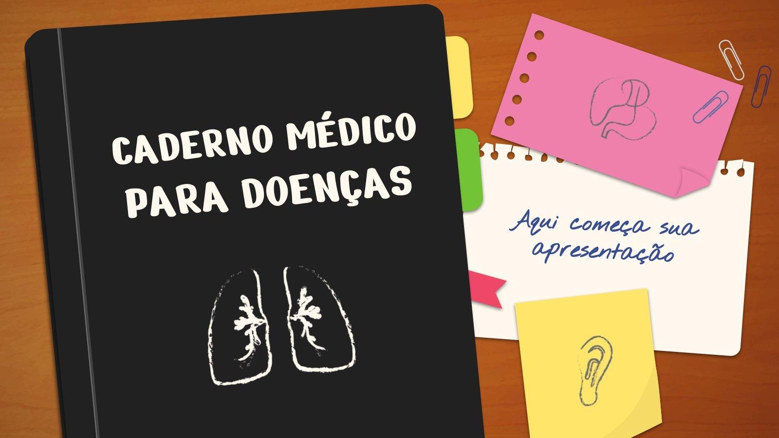 Modelo de apresentação Caderno médico para doenças