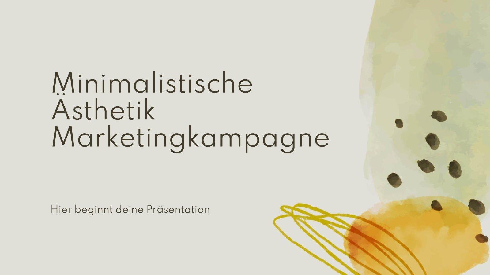 Minimalist Aesthetics Marketing Campaign presentation template