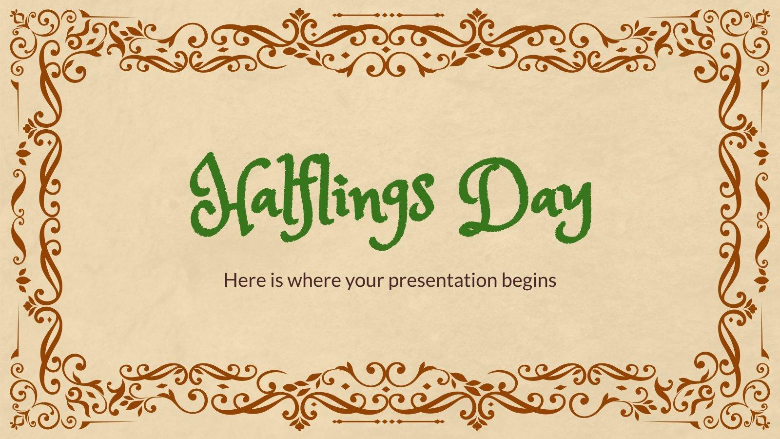 Journée des halfelins : Modèles de présentation