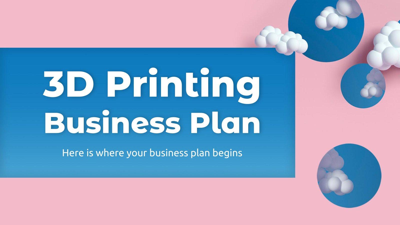 Plan d'affaires impression 3D : Modèles de présentation
