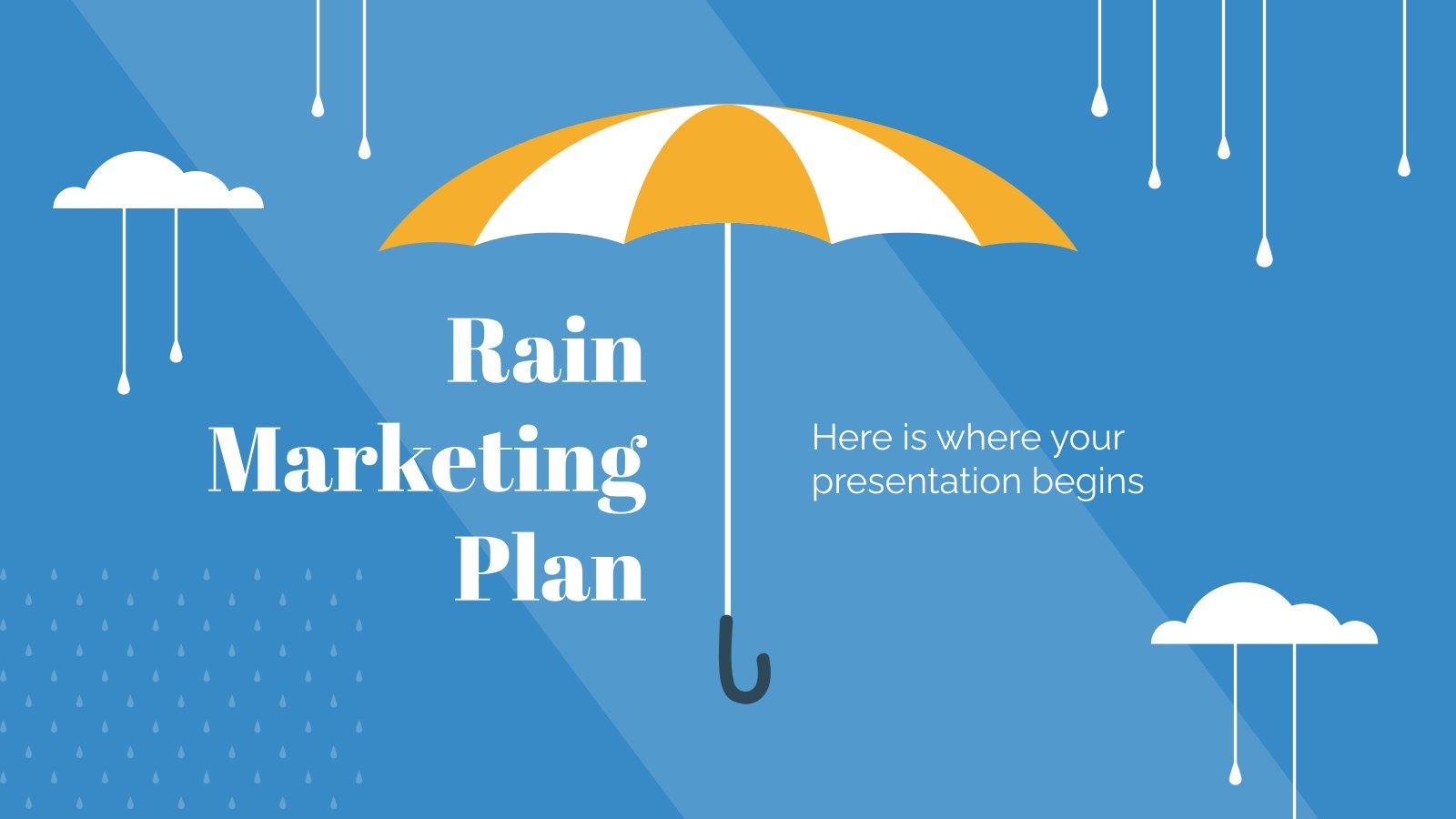 Rain Marketing Plan presentation template