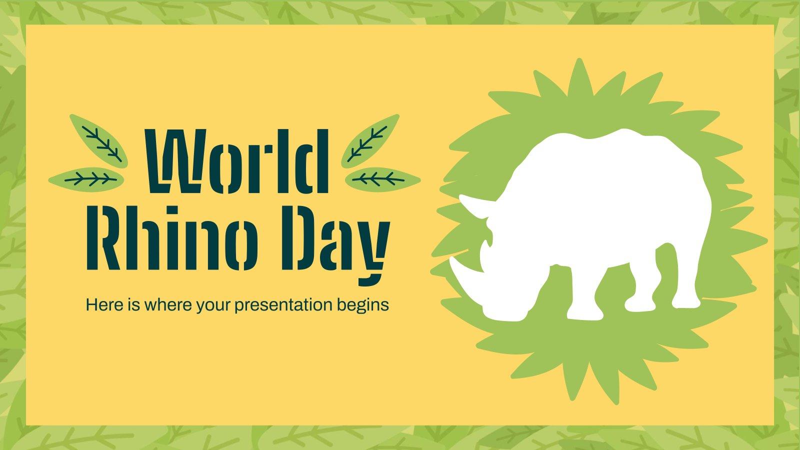 Minithema: Tag des Nashorns Präsentationsvorlage