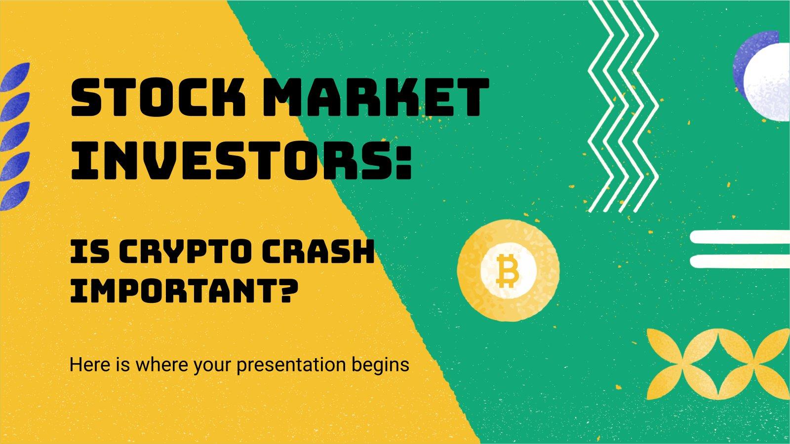 Modelo de apresentação Investidores do mercado de ações: A queda das criptomoedas é importante?