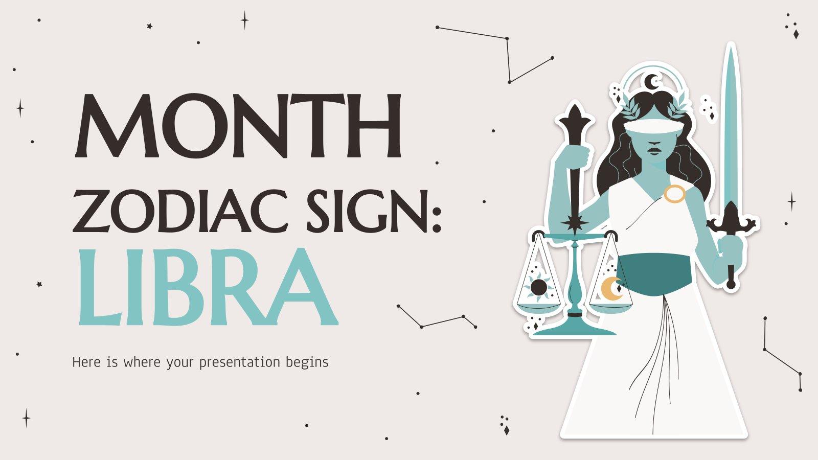 Plantilla de presentación Signo del zodíaco: Libra