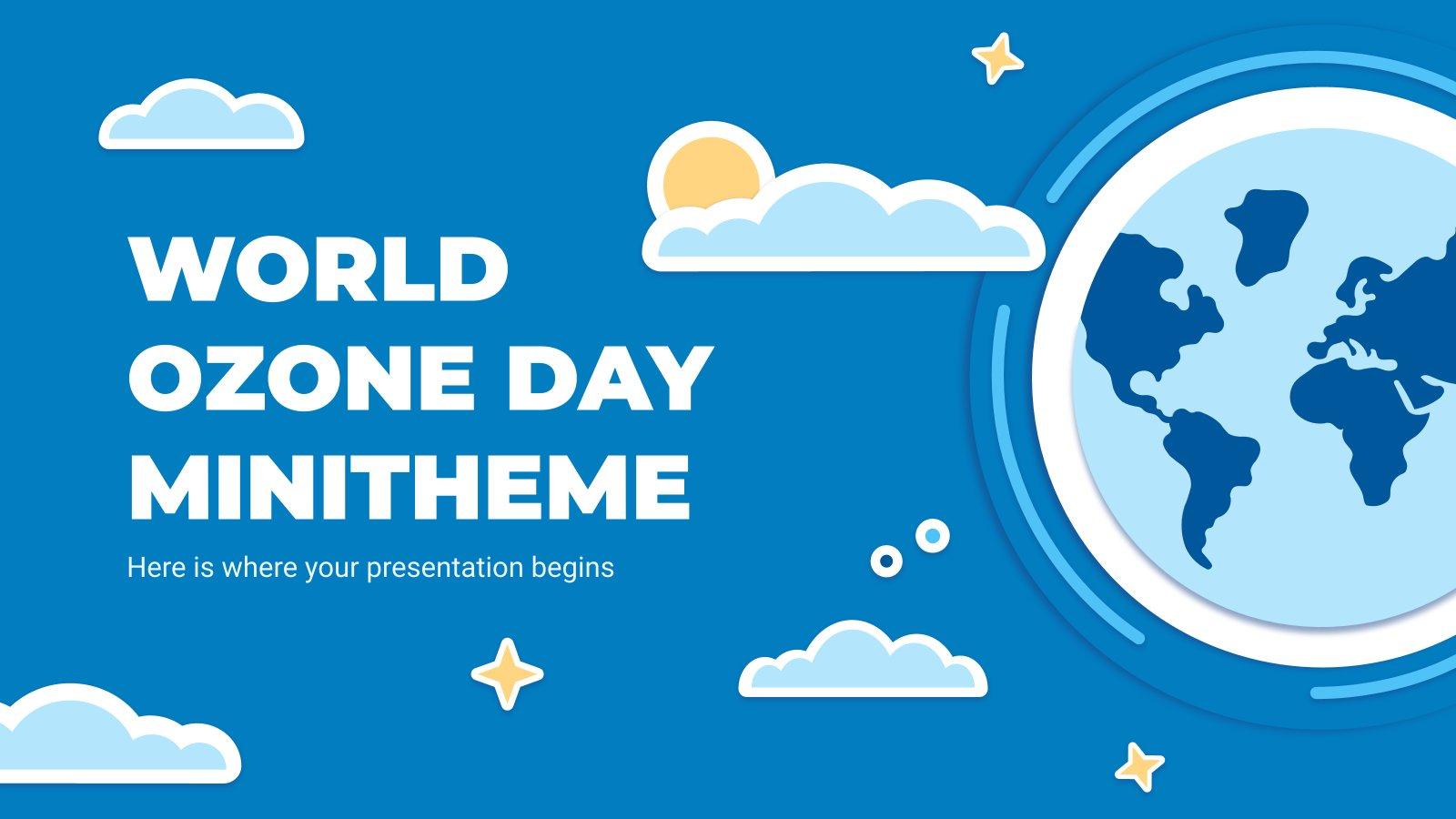 Tag der Ozonsicht Minitheme Präsentationsvorlage