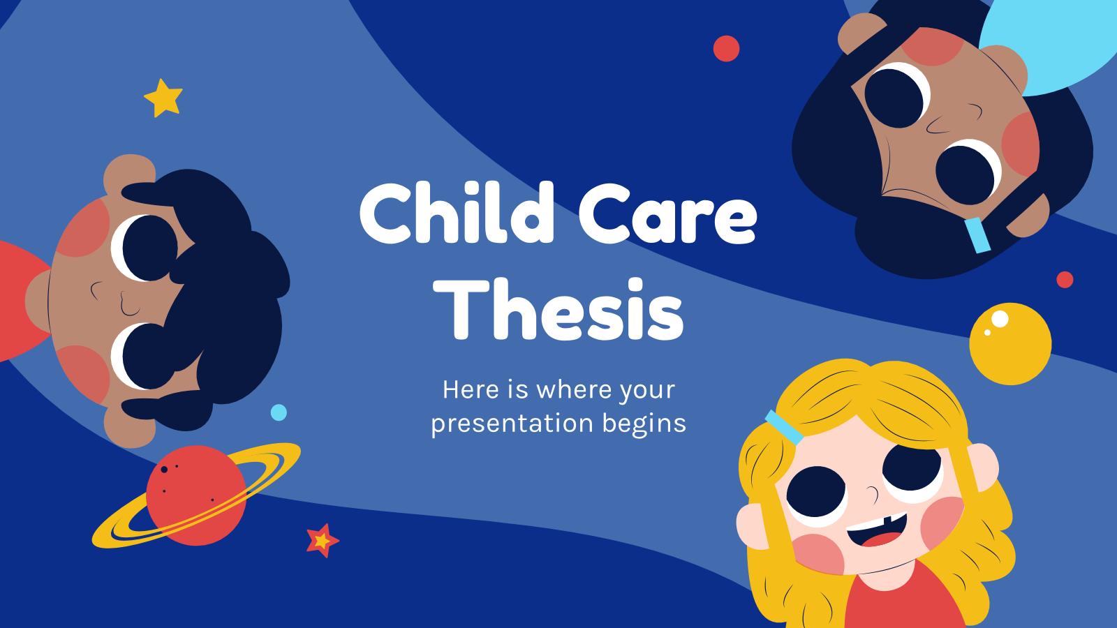 Modelo de apresentação Trabalho sobre o cuidado infantil