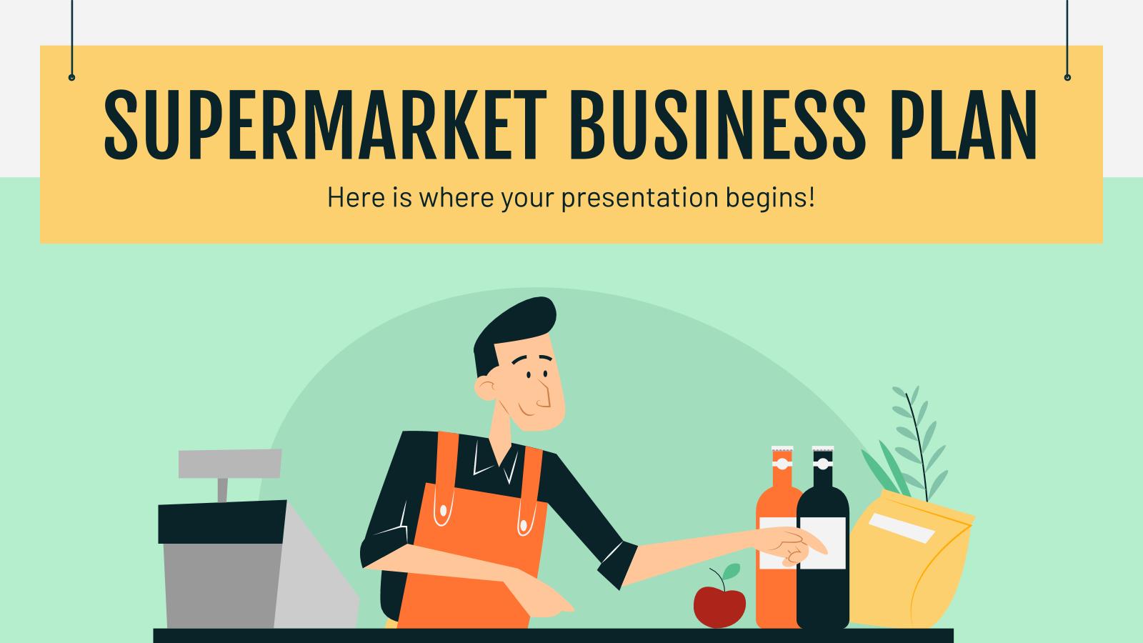 Plantilla de presentación Plan de negocios para supermercados