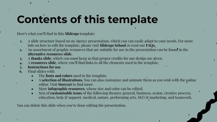 Bird Agency presentation template