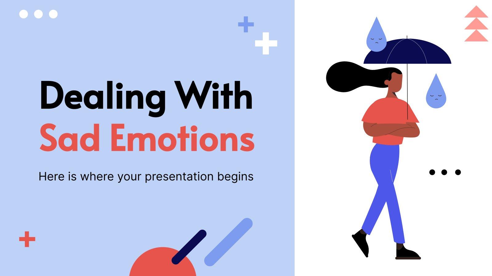 Plantilla de presentación Lidiar con emociones tristes
