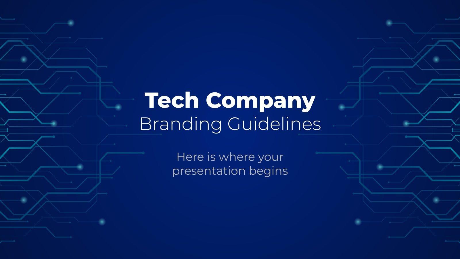 Tech-Unternehmen Markenrichtlinien Präsentationsvorlage