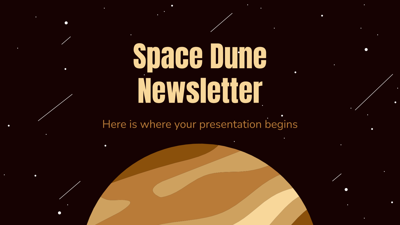 Space Dune Newsletter presentation template