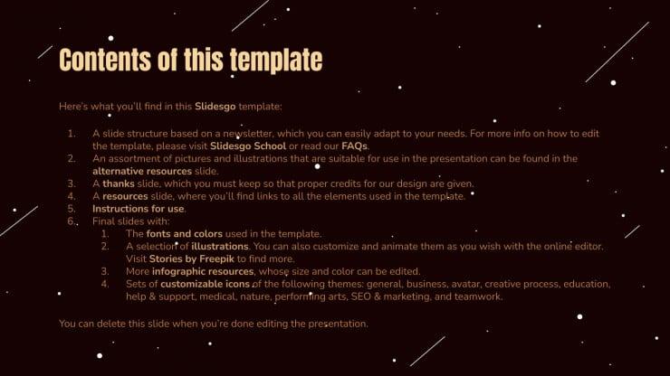 Space Dune Newsletter presentation template