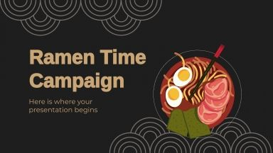 Campagne «L'heure du ramen» : Modèles de présentation