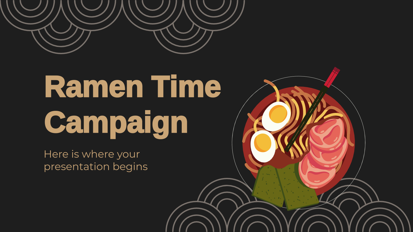 Ramen Time Campaign presentation template