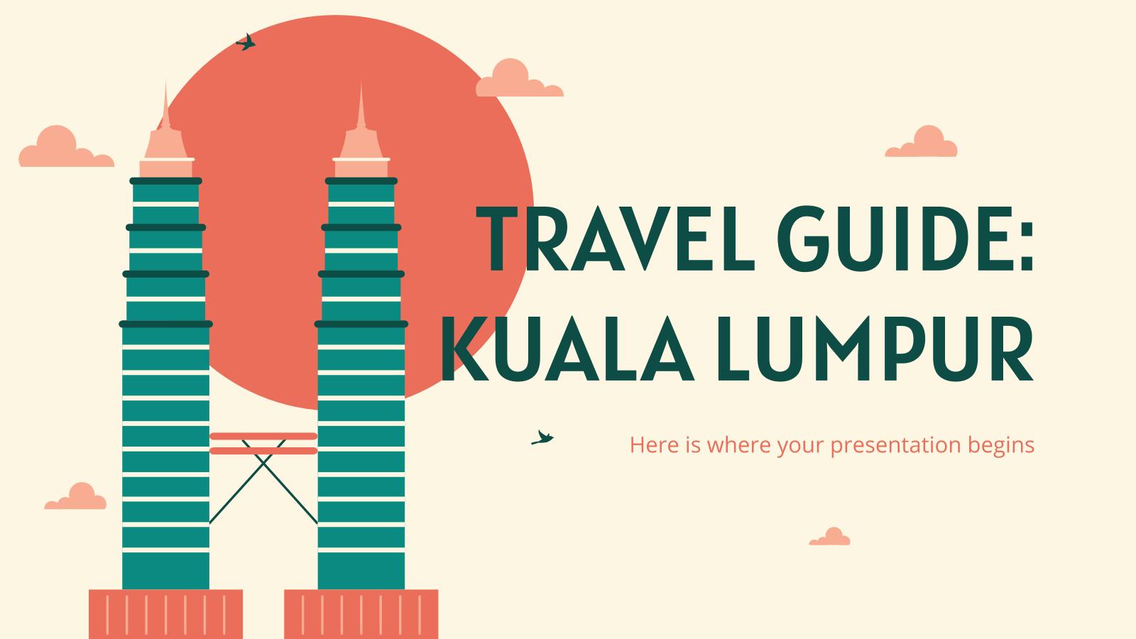 Travel Guide: Kuala Lumpur presentation template