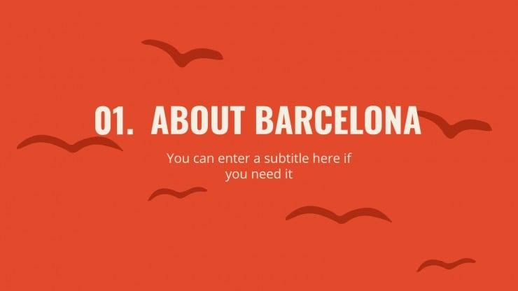 Plantilla de presentación Guía turística: Barcelona