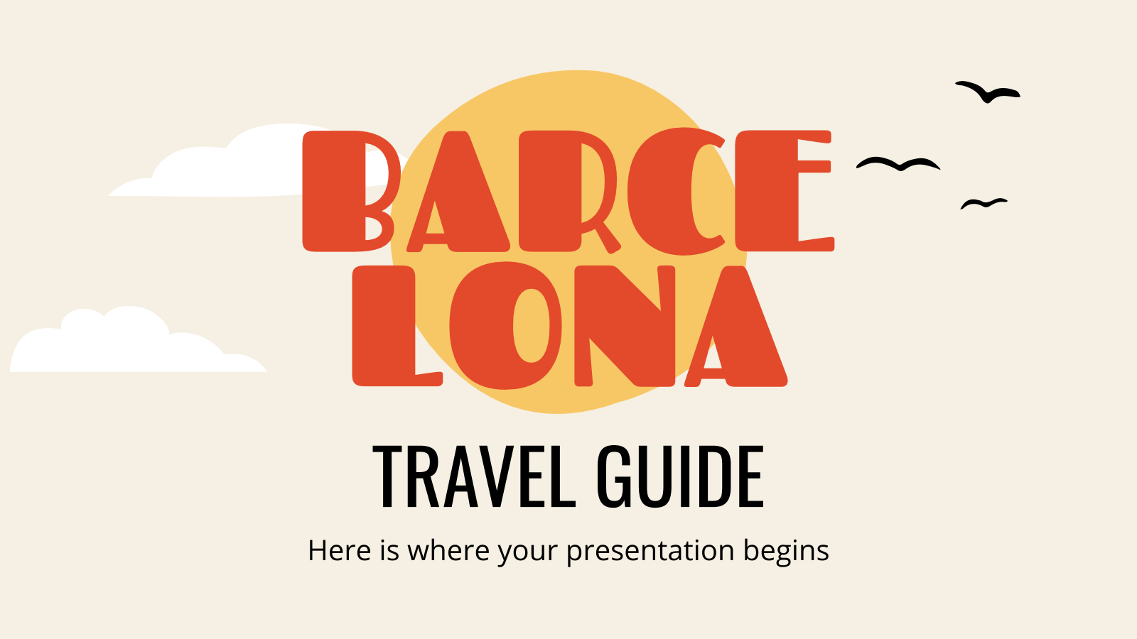 Travel Guide: Barcelona presentation template