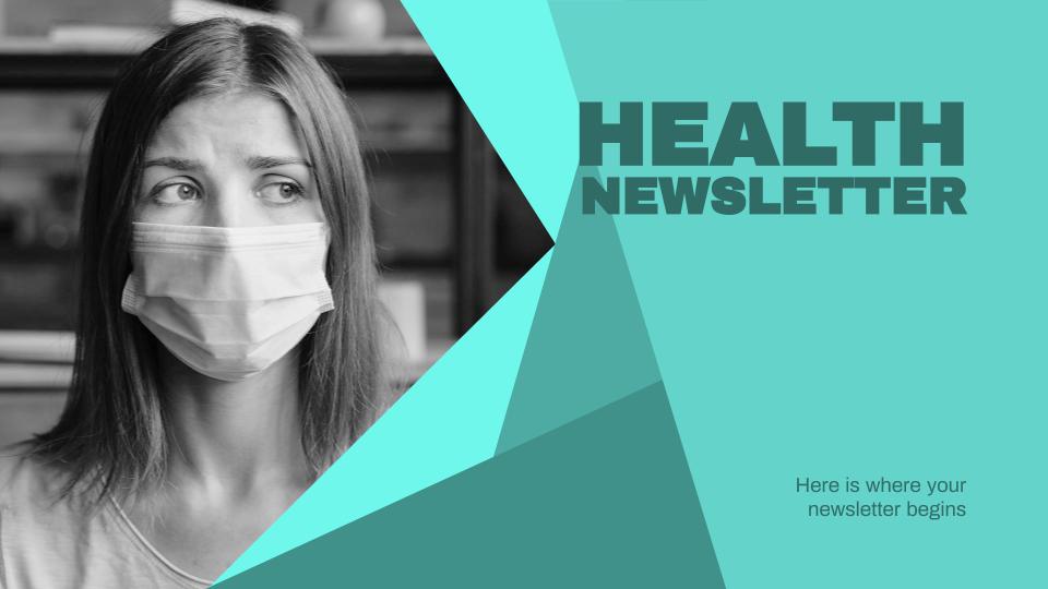 Modelo de apresentação Newsletter de saúde