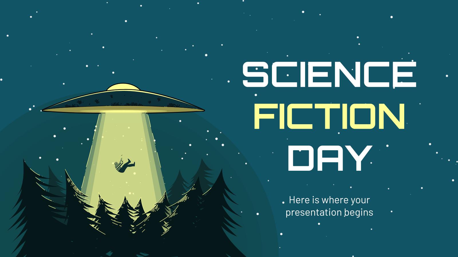 Plantilla de presentación Día de la Ciencia Ficción