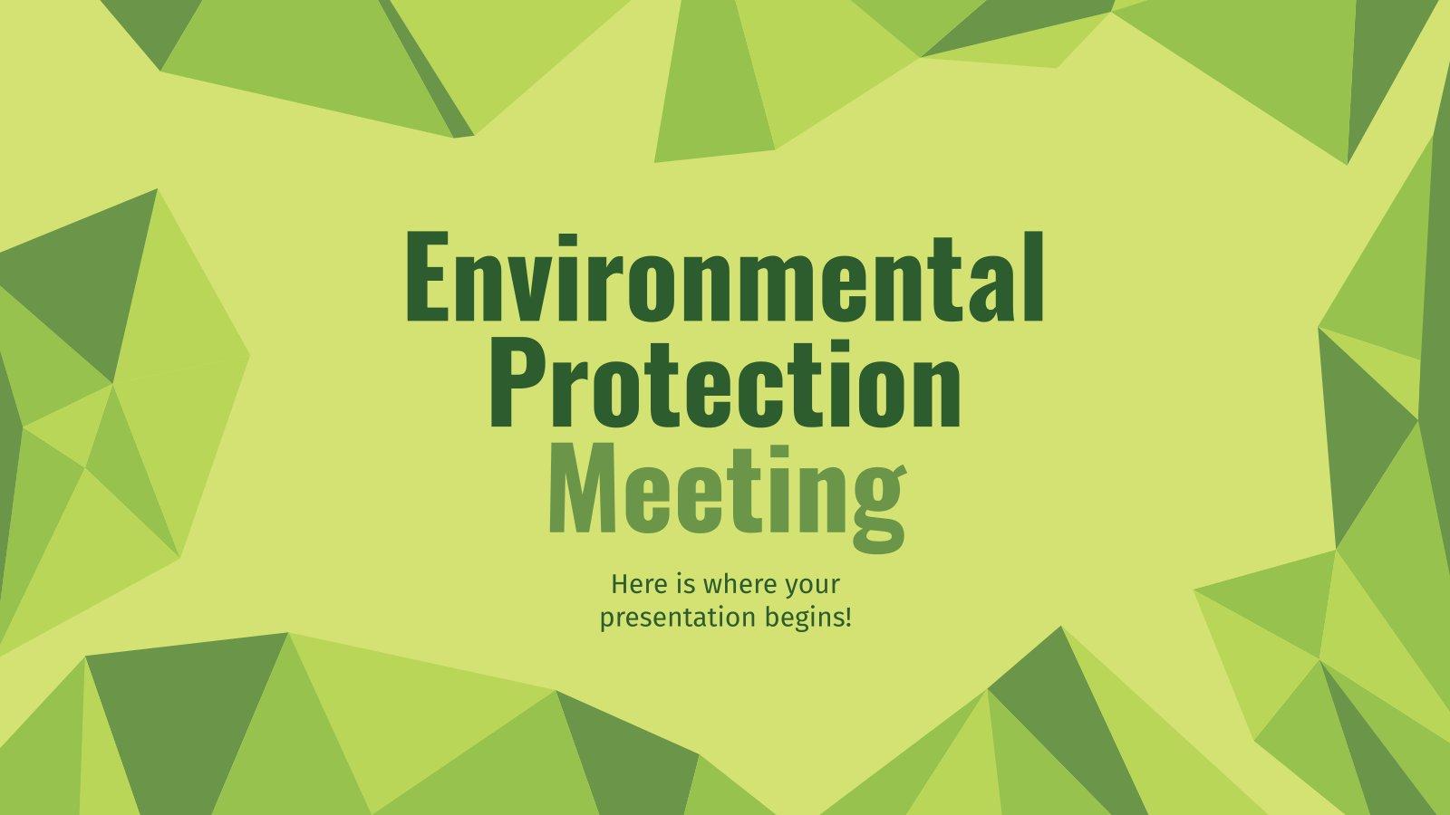 Environmental Protection Meeting presentation template