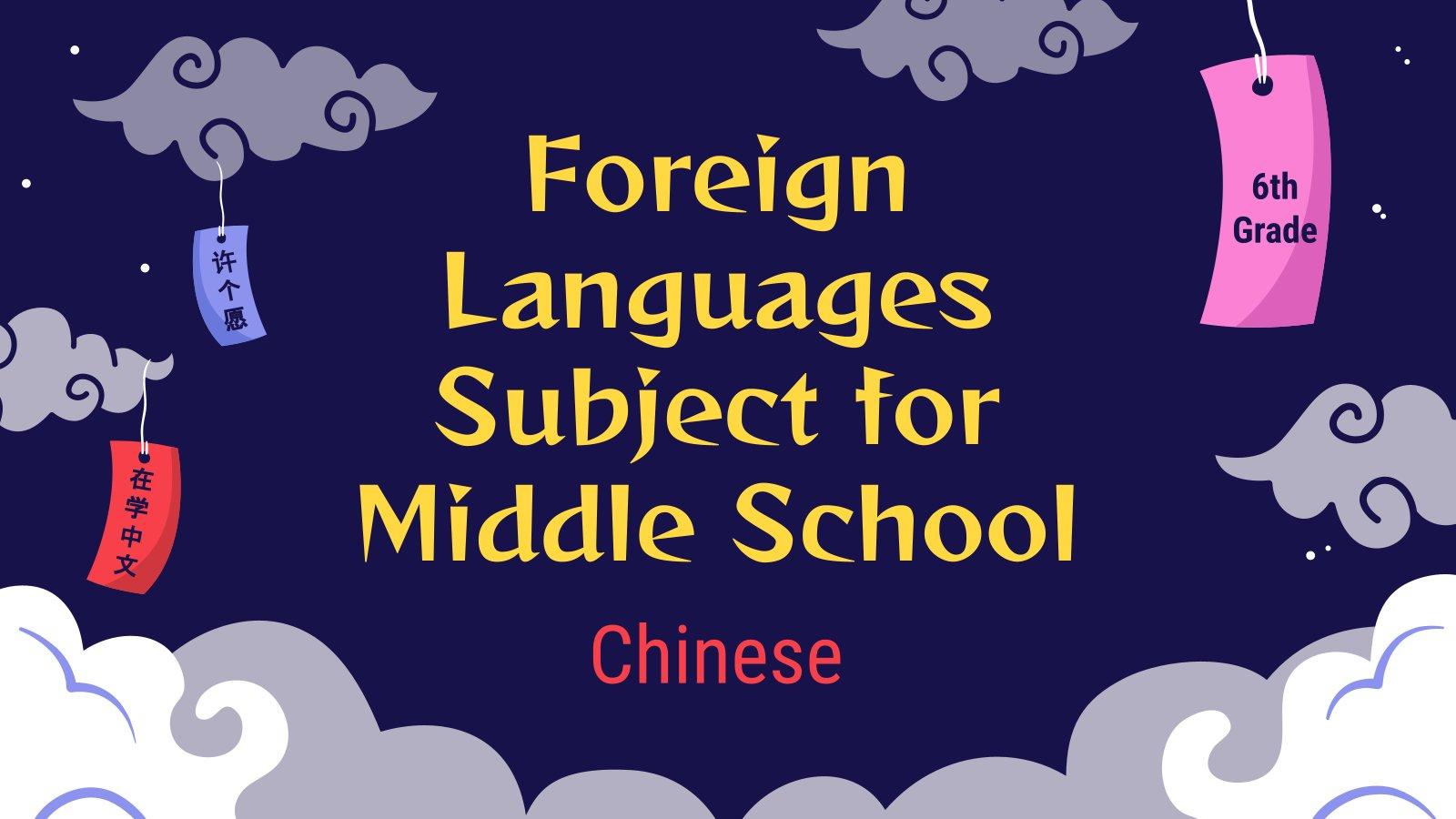 Fremdsprachen für die 6. Klasse: Chinesisch Präsentationsvorlage