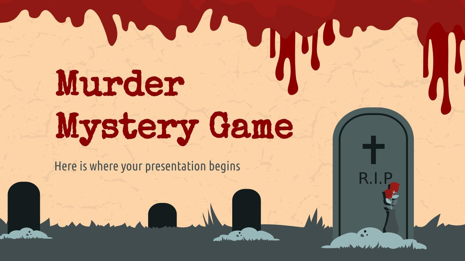 Modelo de apresentação Jogo de assassinato misterioso