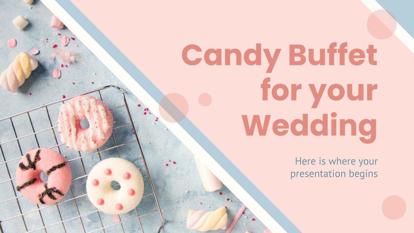 Süßigkeiten Buffet für deine Hochzeit Präsentationsvorlage