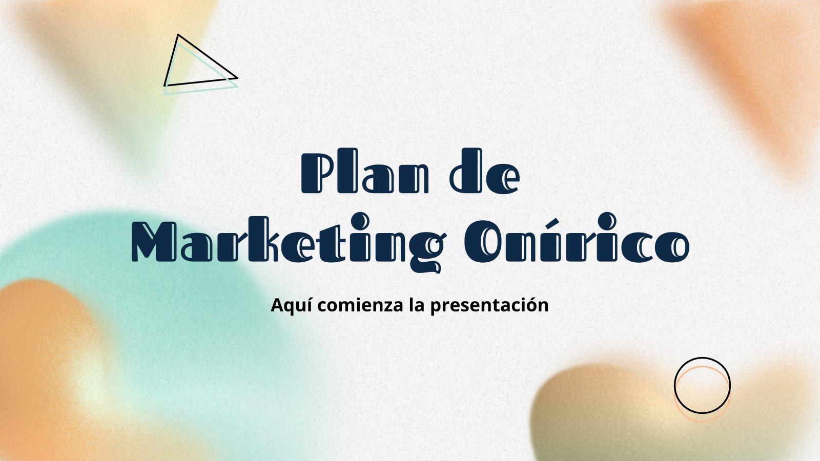 Plan marketing onirique : Modèles de présentation