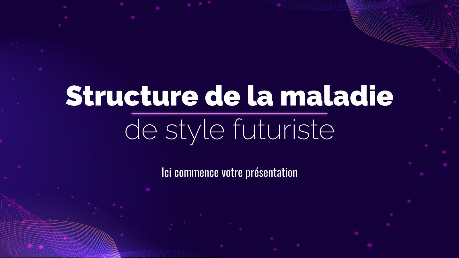 Struktur der Krankheit futuristischer Stil Präsentationsvorlage