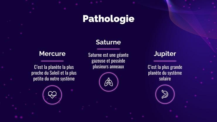 Plantilla de presentación Estructura de la enfermedad estilo futurista