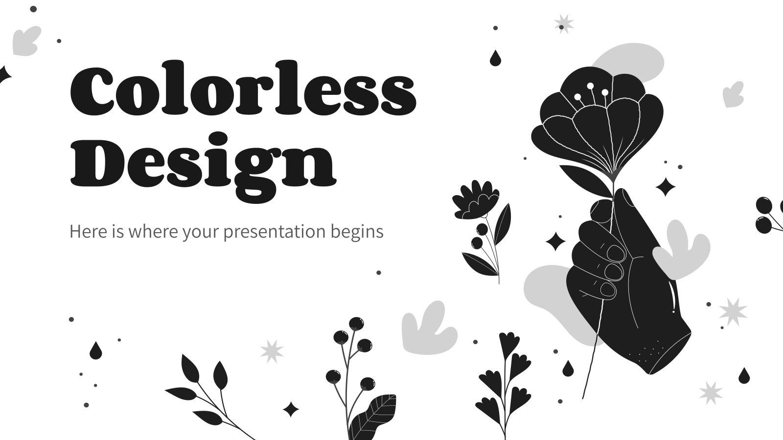 Plantilla de presentación Diseño incoloro