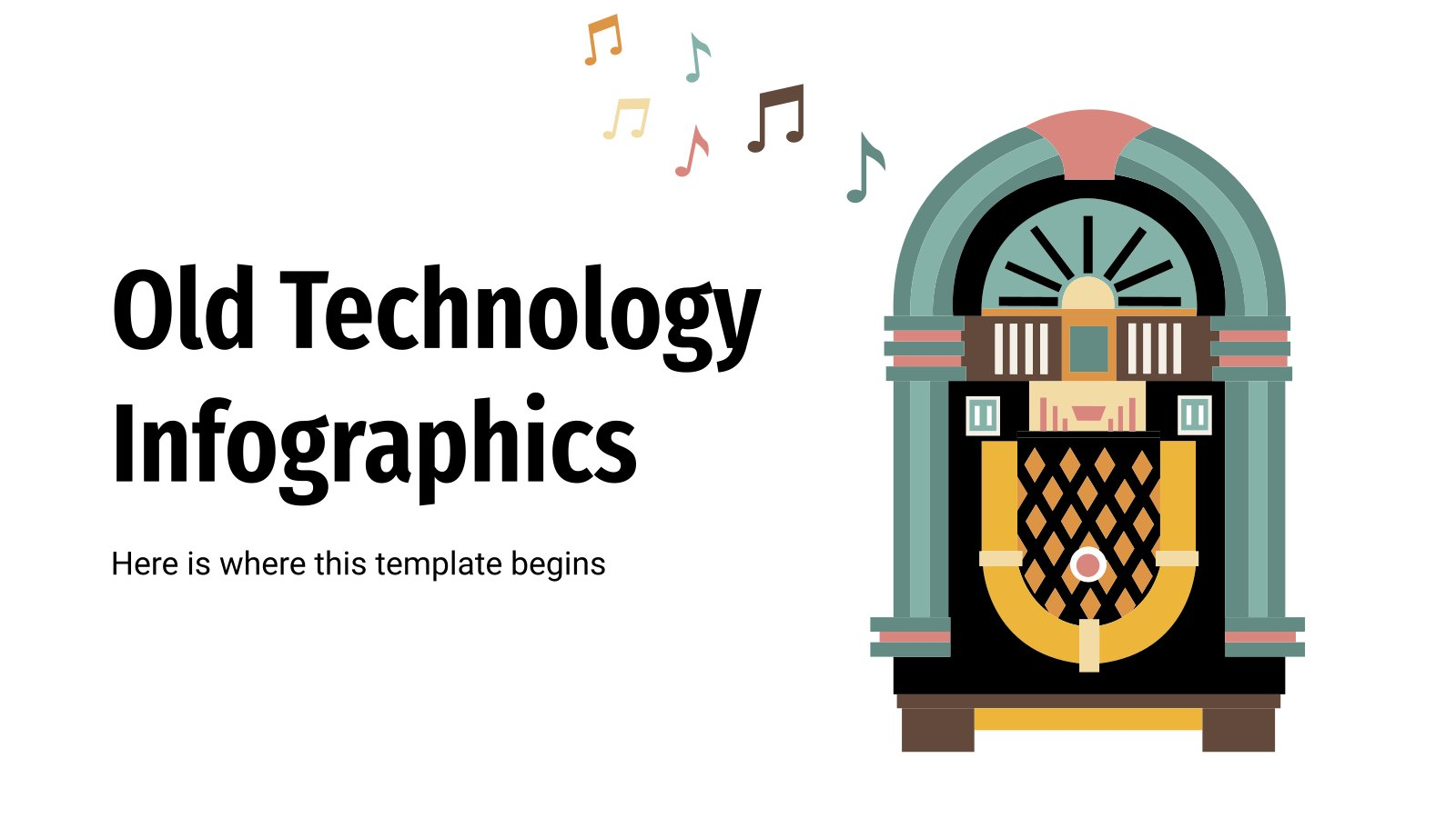 Old Technology Infographics presentation template