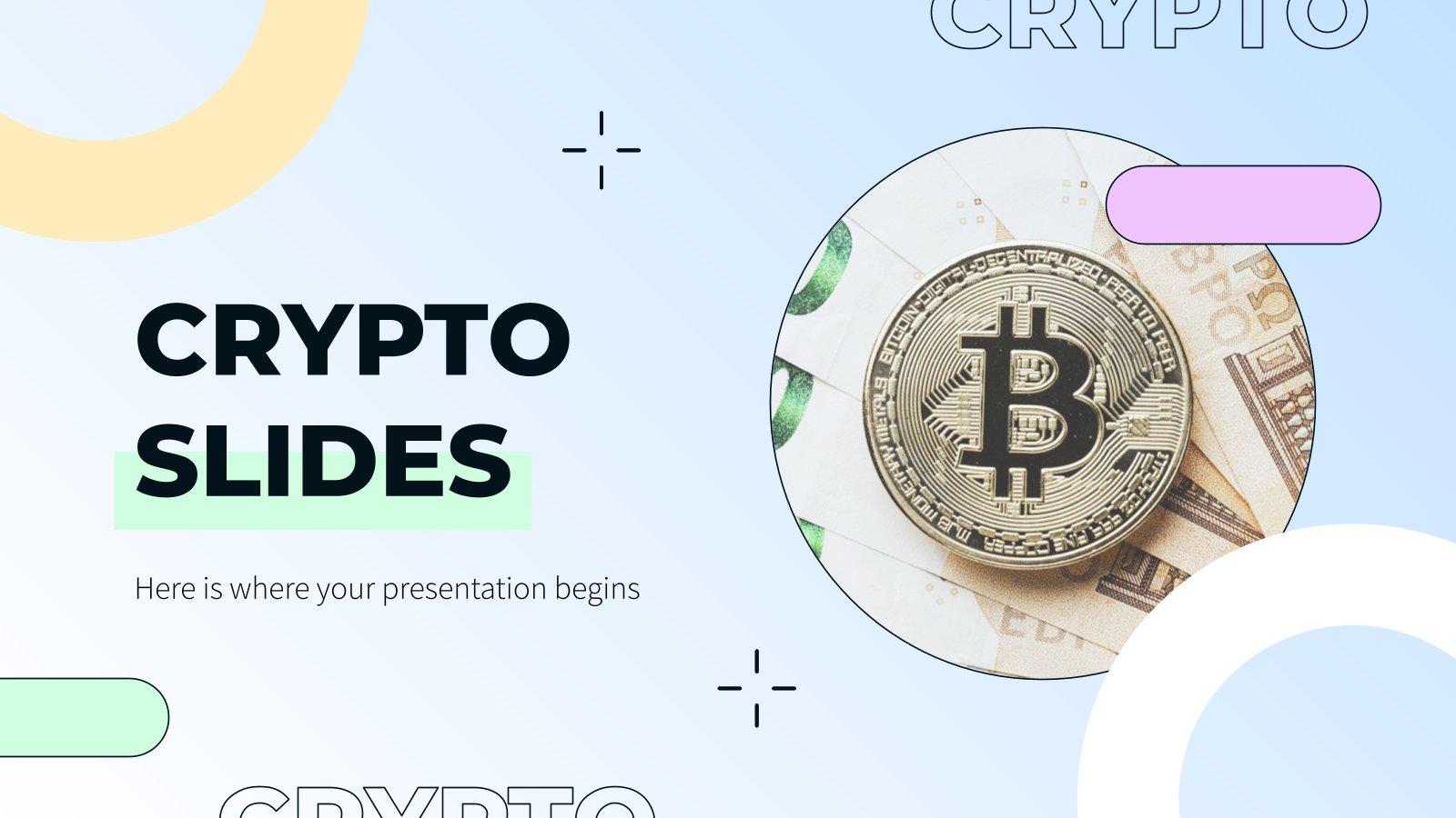 Diapositives sur les cryptomonnaies : Modèles de présentation