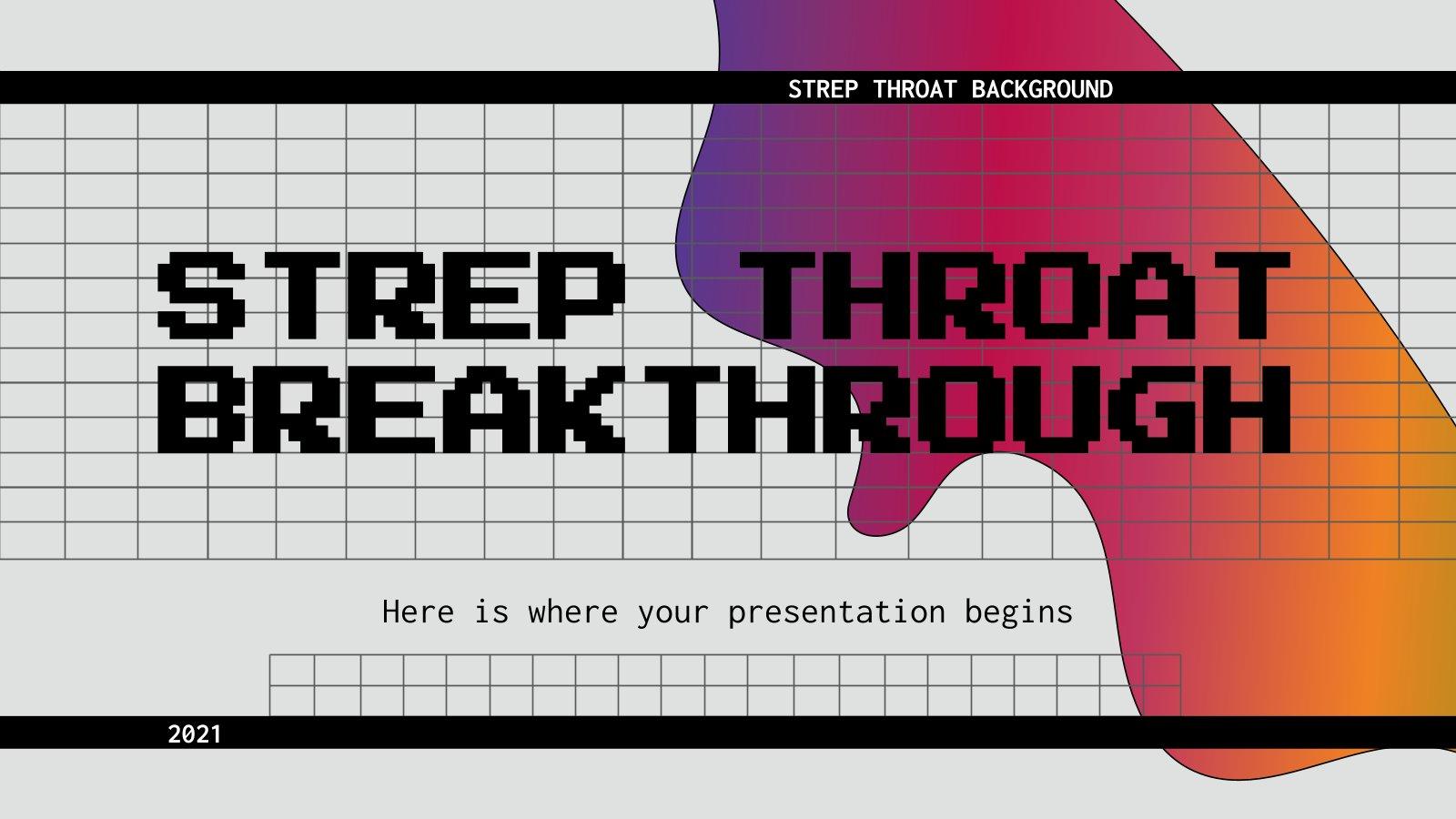 Strep Throat Breakthrough presentation template