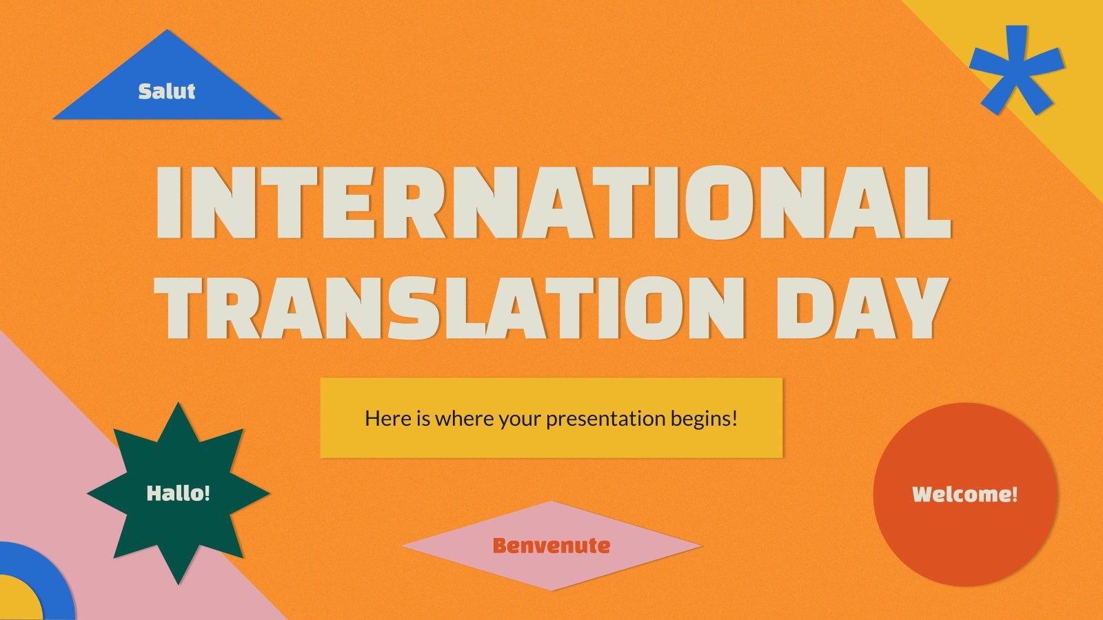 Plantilla de presentación Día internacional de la traducción